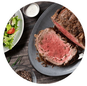 Easter sunday dinner with prime rib