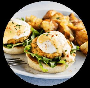 Brunch with Eggs Benedict